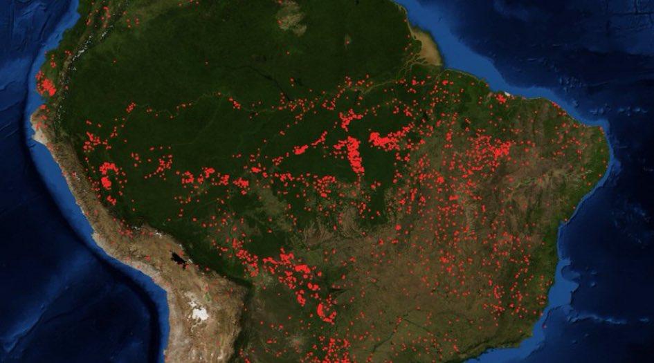 Sudamerika In Flammen Der Amazonas Regenwald Brennt
