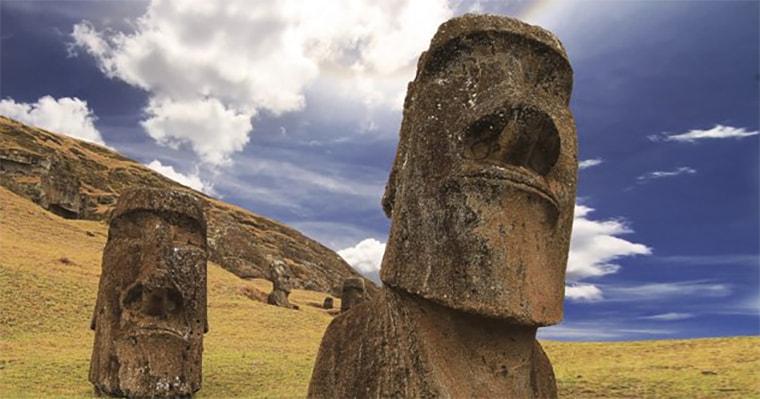 Rätselhafte Osterinsel-Statuen